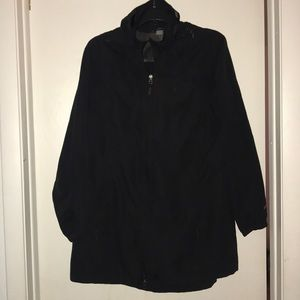 Black Eddie Bauer Trench coat with good